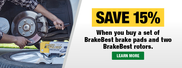 Save 15% on a BrakeBest Brake Bundle
